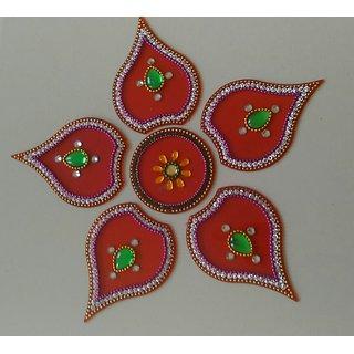 Attractive Kundan Rangoli with multiple style