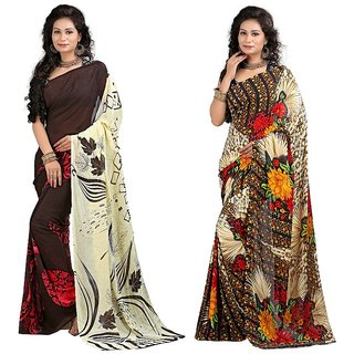 Stylobby Floral Print Saree Combo Of 2Sty-10-7