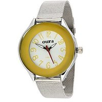 Oura Analog Yellow Dial Trendy Womens  Watch- Lych-42