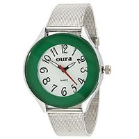 Oura Analog Green Dial Trendy Womens  Watch- Lgch-43
