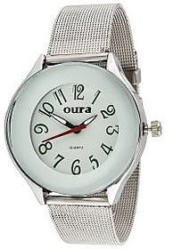 Oura Analog White Dial Trendy Womens  Watch- Lwch-46