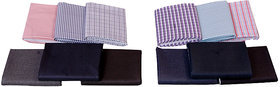 Krivas Suiting  Shirting Formal Wear Pack of 2 ( 1 Shirt  1 Trouser Fabric )