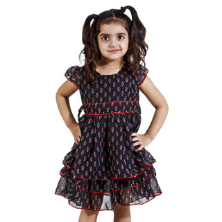 MagPie Multi Color Baby Champ Girl Dress