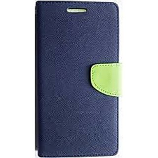 Fancy Diary Flip Wallet Case Cover for LENOVO A7000 (Blue)