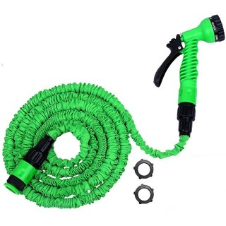 25FT GARDEN WATER HOSE EXPANDABLE FLEXIBLE HOSE PIPE WITH SPRAY NOZZLE