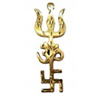 Trishakti in Brass- height 9.2cm.
