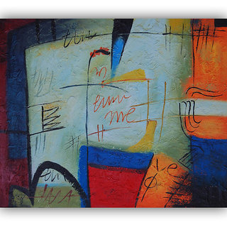 Vitalwalls - Abstract Painting Canvas Art Print (Abstract-788-30cm)