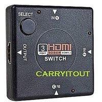 3 Port 1080P HDMI Switcher Splitter Video Selector Hub Box for HDTV PS3 DVD