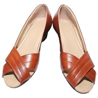 Richiee Tan Imported Faux Leather Wedges Ballerinas