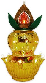Vrct Ganesh with Kalash Multicolour light for pooja