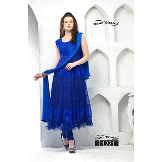 Krazzy Designer  Blue Anarkali Dress