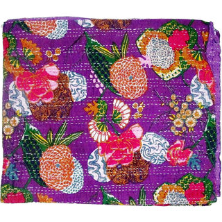 Kantha Handmade Cotton Quilt, Printed Bed Sheets, Online Quilts/ Bed Sheets