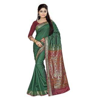 Fabdeal Green Colored Art Silk Printed Saree AAFQ3SR2040MR