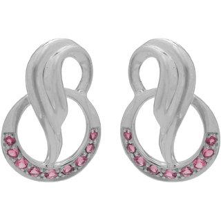 Allure Jewellery 925 Sterling Silver Pink Tourmaline Earrings