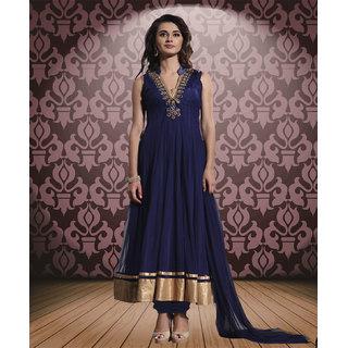 Latest fashion new blue semi-stitched salwar suit