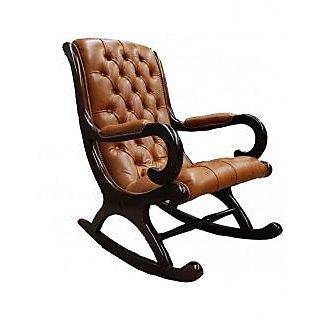 Dream Furniture Brown Wooden Chair.