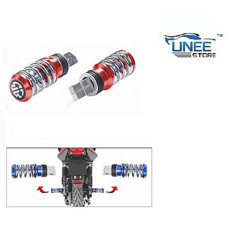 Coil Spring Style Bike Foot Rest 2 Pcs (Red)-Honda Dio - (ABC13954)