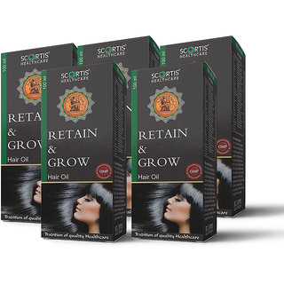 SCORTIS RETAIN AND GROW OIL- COMBO(SET OF FIVE)