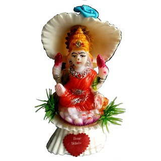 Ritzz Lakshmi Idol Made by Sea Shells - Dewali puja Special