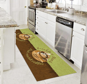 Status Lime,Brown Runner (18X59 Inch)