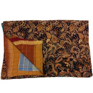Vintage Cotton Kantha Old Reversible Assorted Color Gudari(BHI-61)