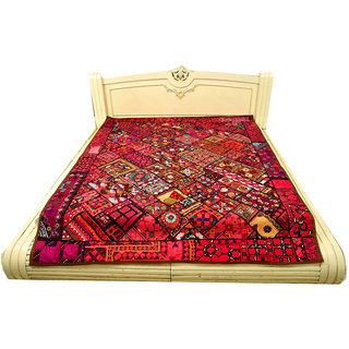 Embroided Designer Unique Pattern Ethnic Paki Bedcover(BHI-78)
