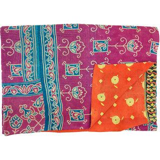 Vintage Cotton Kantha Old Reversible Assorted Color Gudari(BHI-59)