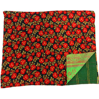 Vintage Cotton Kantha Old Reversible Assorted Color Gudari(BHI-62)