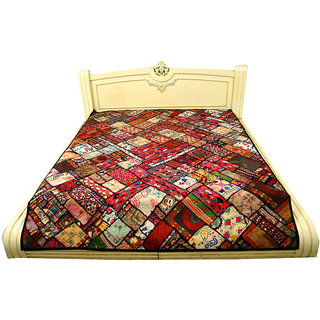 Embroided Designer Unique Pattern Ethnic Paki Bedcover(BHI-80)