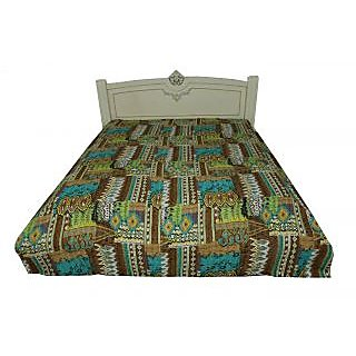 Kantha Gudari Queen Size Handmade Ethnic Boota Design Quilt(BHI-111)