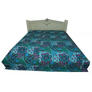 Kantha Throw Indian Ralli Gudari Mughal Design Twin Bedcover(BHI-105)