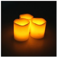 3x Remote Control Flameless Wax LED Candle Light Lamp For Wedding Party SP Xmas
