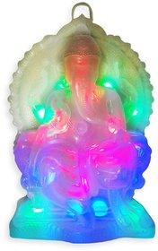 Vrct Showpiece Ganesh Multicolour light for pooja