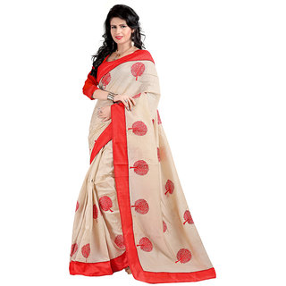 Alberts Embriodered Assam Silk Silk Sari 3020