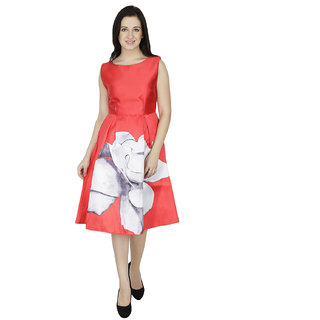 Svt Ada Collections Satin Red Color Pretty Dresses