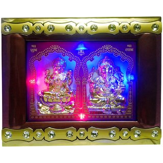 VRCT Showpiece Laxmi Ganesh Small Size Picture with Frame