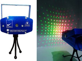 VRCT Mini LED Laser Lightning Stage Activated Projector For DJ Disco Party