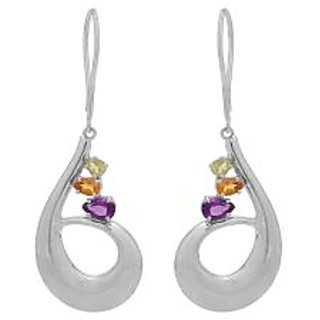 Allure Jewellery 925 Sterling Silver Multi Color Earrings
