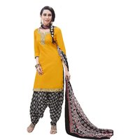 Aaina Yellow Cotton Printed Suit (SB-2839)