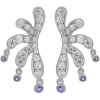 Allure Jewellery 925 Sterling Silver Tanzanite and CZ Earrings