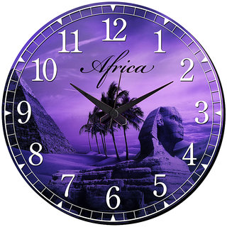 Mesleep Africa Wall Clock With Glass Top