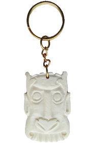 Monster Face Handmade Marble Keyring