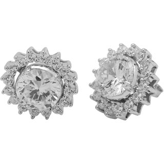 Allure Jewellery 925 Sterling Silver Cubic Zircona (CZ) Earrings