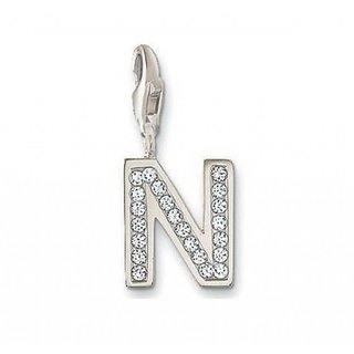 KIARA N ALPHABET DESIGN AMERICAN DIAMOND PENDANT # KIP0054