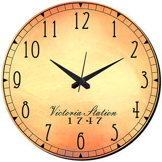 Mesleep Victoria Vintage Wall Clock With Glass Top