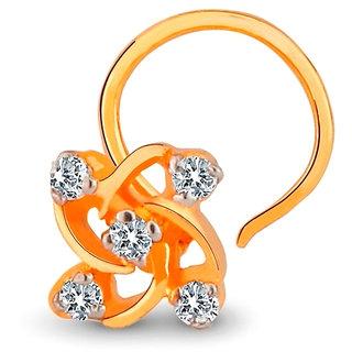 Kiara TRADITIONAL Shape AMERICAN DIAMOND NOSERING  # KINO0012