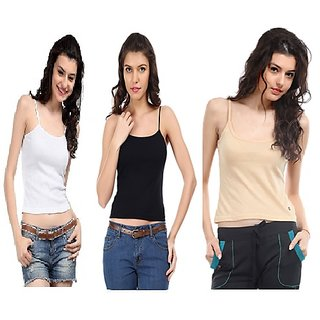 Pack of 3 Camisole slip Spaghetti cotton Camisole Tshirt Top