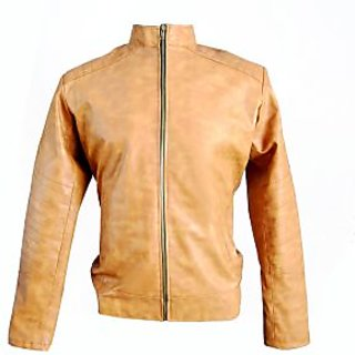 Solid Casual Biker Jacket PU Leather from Leather Kashmir