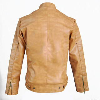 6fe63f066 Solid Casual Biker Jacket PU Leather from Leather Kashmir