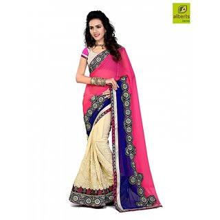 Alberts Self Design Bollywood Georgette Sari  1